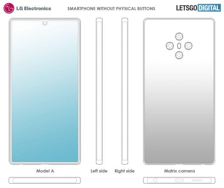 طرح خلاقانه ال جی: گوشی هوشمند بدون هیچ دکمه فیزیکی!