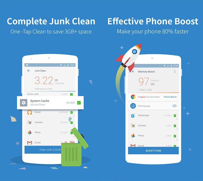 5 اپلیکیشن عالی برای پاک کردن حافظه نهان گوشیهای اندرویدی