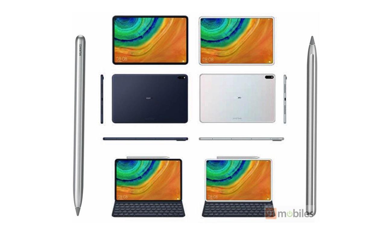 رندرهای جدید از Huawei MediaPad M7؛ اولین تبلت پانچ دنیا