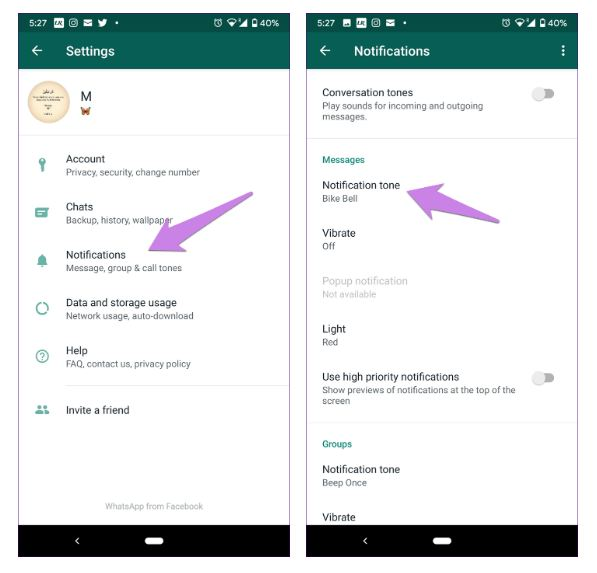 روش عدم دریافت پیام در واتساپ