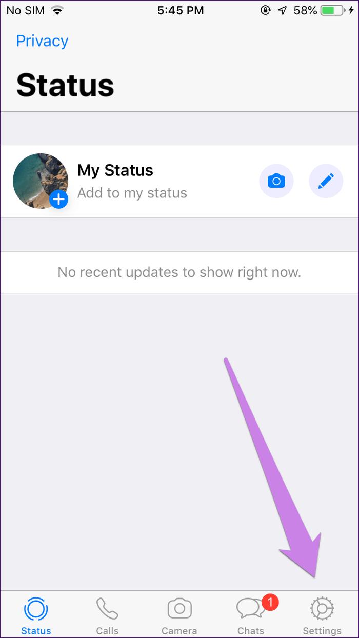 عدم نمایش پیام واتساپ روی صفحه