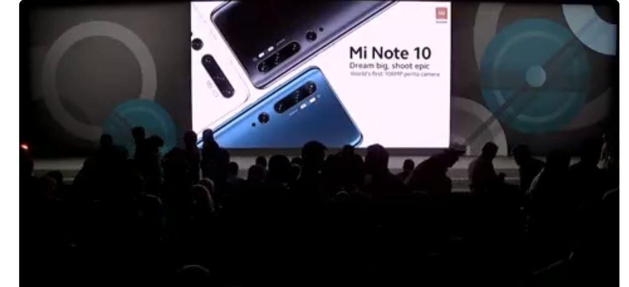 Mi Note 10؛ اولین گوشی 108 مگاپیکسلی جهان در اسپانیا رونمایی شد!