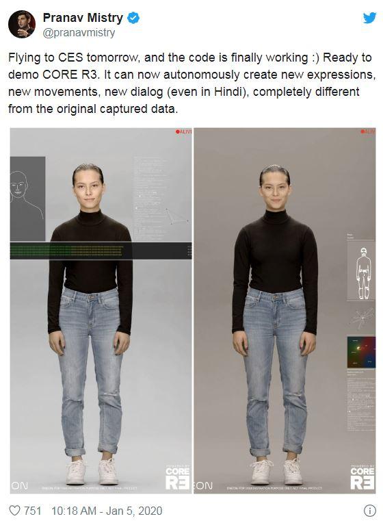 ابعادی تازه از پروژه Neon یا انسان دیجیتالی سامسونگ!