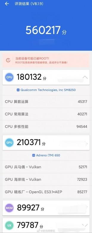 ثبت امتیاز شگفتانگیز 560K توسط شیائومی Mi 10!